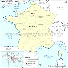 where is on the map where is location of in map