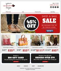 a free email newsletter template for ecommerce with a modern design