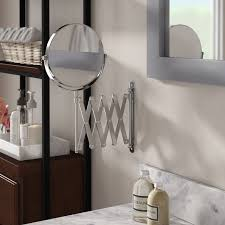 Extendable Magnifying Bathroom Mirror Symple Stuff 13 8 H X 23 75 W Extendable Wall Mount Magnifying