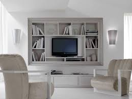 decor accent armchairs and area rug with wall mounted tv unit