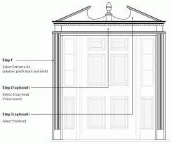 Exterior Door Pediment And Pilasters by Pilaster Door Trim U0026 Vinyl Door Surrounds