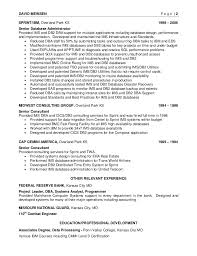 Sample Dba Resume by Meinsen David Final Resume