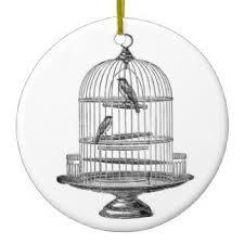 vintage birdcage ornaments keepsake ornaments zazzle