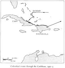 Map Of Columbus Voyage Schedule Of Lectures And Readings The Caribbean