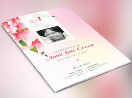 sle of funeral programs orchid funeral program brochure templates creative market