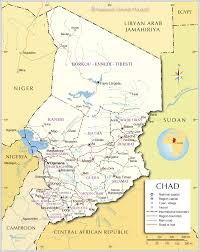Africa Map With Capitals by Political Map Of Chad Nations Online Project