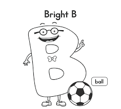ball coloring pages printable alphabet coloring pages b is for