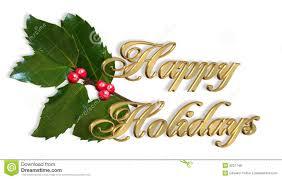 decorations border with text happy holidays stock photo