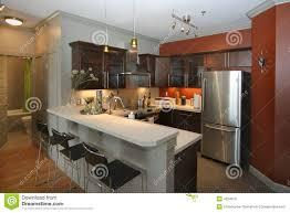 modern kitchen bars modern kitchen with bar area stock photo image 4324810