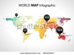 3d africa map vector vector abstract 3d world map pins stock vector 160229504