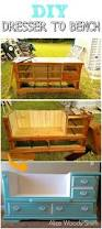 Bench Made From Old Dresser 30 Creative And Easy Diy Furniture Hacks For Creative Juice