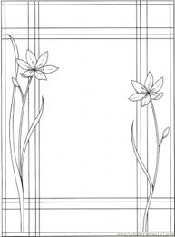 frame with two flowers coloring page free decorations coloring