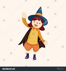 halloween party costume theme elements stock vector 257916812