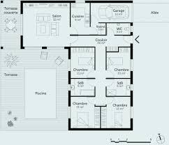 plan maison 120m2 4 chambres plan maison 4 chambre plain pied plan maison plain pied