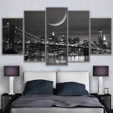 online get cheap 5 piece new york wall picture framed aliexpress