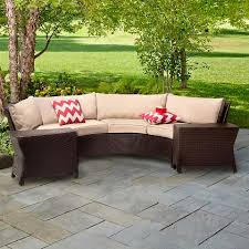 Sectional Patio Furniture Sets Harrison 6 Wicker Sectional Patio Seating Set Threshold
