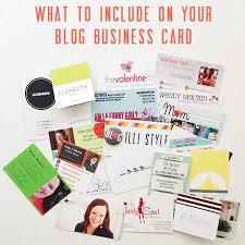 What Information Do You Put On A Business Card Blogger Business Cards How To Make A Lasting Impression Illistyle