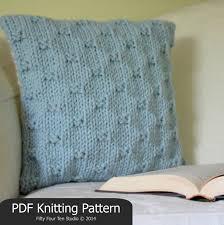 knitting pattern pillow cushion quick u0026 easy knit super
