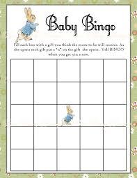 printable peter rabbit baby shower bingo game instant download