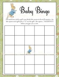 baby shower bingo game home design