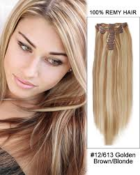 14 inch hair extensions 7pcs 12 613 brown 100 remy hair clip in human