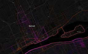 Map Running Routes by Map Running Walking And Biking Routes In Detroit Detroitography