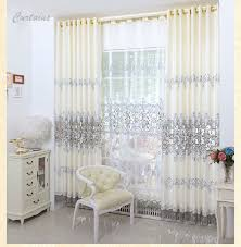 fashion europe embroidered window treatment drapes home decor