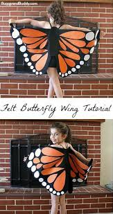 Sew Can Do Make A Cuddly Cute Pumpkin Costume Without A Pattern by Felt Monarch Butterfly Wings Tutorial Buggy And Buddy
