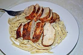 blackened chicken with olive garden alfredo sauce