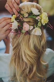 wedding flowers in hair 15 half up half wedding hairstyles for trendy brides