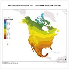 North America Temperature Map by Best Fails To Account For Population And Cold Winters