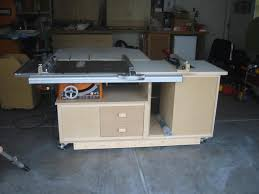 how to build a table saw workstation table saw work station ridgid plumbing woodworking and power