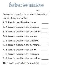 place value worksheets french by katie tulloch tpt