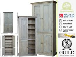 solid pine or oak 7ft tall larder pantry shelving kitchen