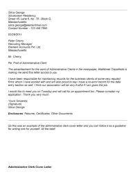 storeroom clerk cover letter