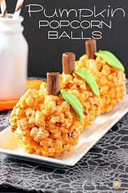 pumpkin popcorn balls popcorn halloween foods and holidays