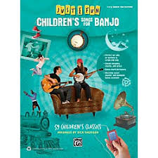 alfred just for children s songs for banjo easy banjo tab book