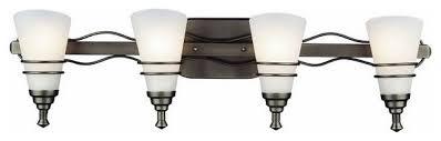Felix 4 Light Cage Vanity - forecast gun metal 4 light bath wall fixture transitional