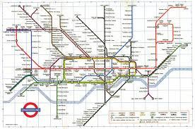 London Subway Map by Map Graphical Approach London The Underground Railway