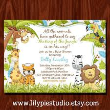 create your own invitations chic jungle theme baby shower invitations to create your own