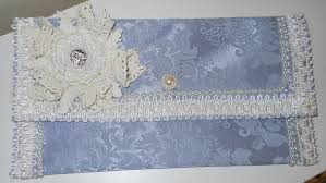 blue damask handmade clutch purse summer clutch party clutch purse