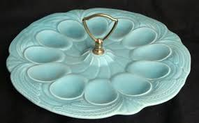 vintage hull deviled egg plate serving dish no 14