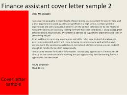 trend sample cover letter for finance assistant position 41 on