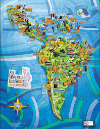 our one of a all around this world musical map of america