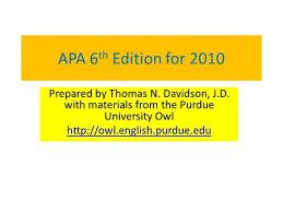 Purdue owl apa style guide