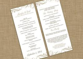 wedding programs sles wedding program template by diyweddingtemplates on etsy