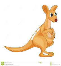 kangaroo with baby clipart clipartxtras