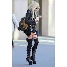 Adore Home Decor by Buckled Adore Knee High Platform Boots Celebrity Style Gothic Boots