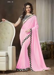 baby pink printed saree