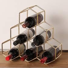 kate and laurel merl 6 bottle tabletop wine bottle rack u0026 reviews